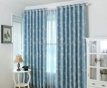 Polyester Flower Design Printing Blackout Fabric Window Curtain