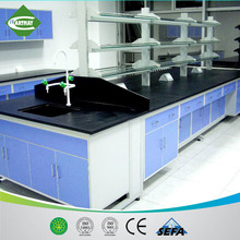 2015 modern scientific laboratory steel and wood lab furnitures, island/wall bench