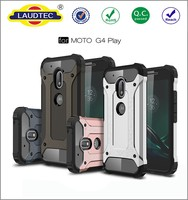 Plastic Hard Shell Hybrid Heavy Duty Shockproof Armor Phone Case For Motorola Moto G4 Play