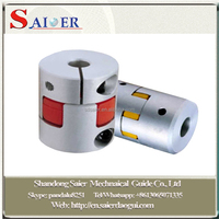 cnc machine helical electric motor couplings for servo motor