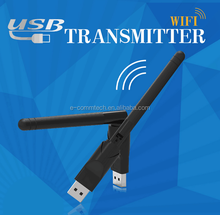 E-comm Computer WiFi Adapter 150Mbps Mini USB WiFi Receiver Wireless Network Card with 5dBi Antenna Support 802.11 b/g/n for PC