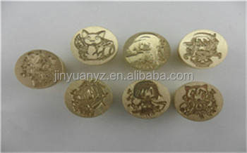 JinYuan Custom Logo Vintage Wax Seal Stamp set /brass stamp