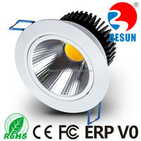 Office lighting 5 years warranty Ra>82/90/95/97 CCT3000/4000/6000K Dimmable 10 watt COB LED downlight