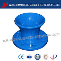 Flange bell mouth pipe fitting