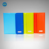 colorful pu portfolio with 6500mah power bank and tablet case