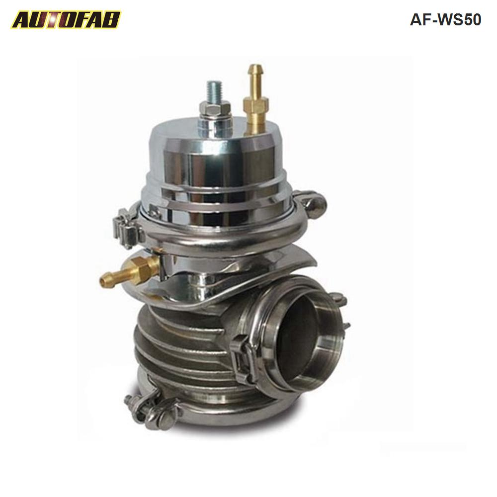 AUTOFAB -- 50mm Stainless Bottom Aluminum Top WG Turbo Charge <strong>Wastegate</strong> <strong>External</strong> V-band AF-WS50