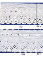 Hollow Design White Cotton Embroidery Lace Trim for Clothing