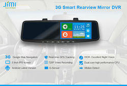 JiMi 2014 Newest 3G Smart Rearview Mirror DVR touch screen car dvd bluetooth gps