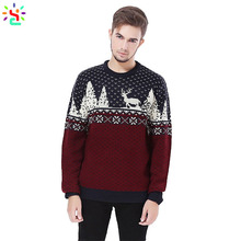 Wholesale knit sweater <strong>men</strong> knitted sweater custom christmas ugly sweater long sleeve pullover