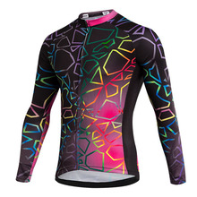 2017 New Custom Women Long Sleeve Cycling Jersey Sportwear Cycling Clothing Bike Jersey Top