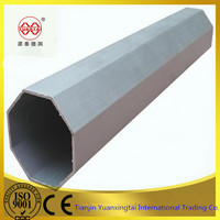 S235jr ms black octagonal steel tube in Tianjin with good price
