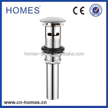 Slotted basin drain mechanism click clack bathroom fitting