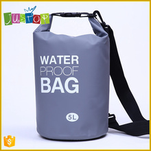 Justop Wholesale Waterproof Ocean Pack Outdoor PVC swimming tarpaulin drybag 5L dry bag waterproof for sports sack