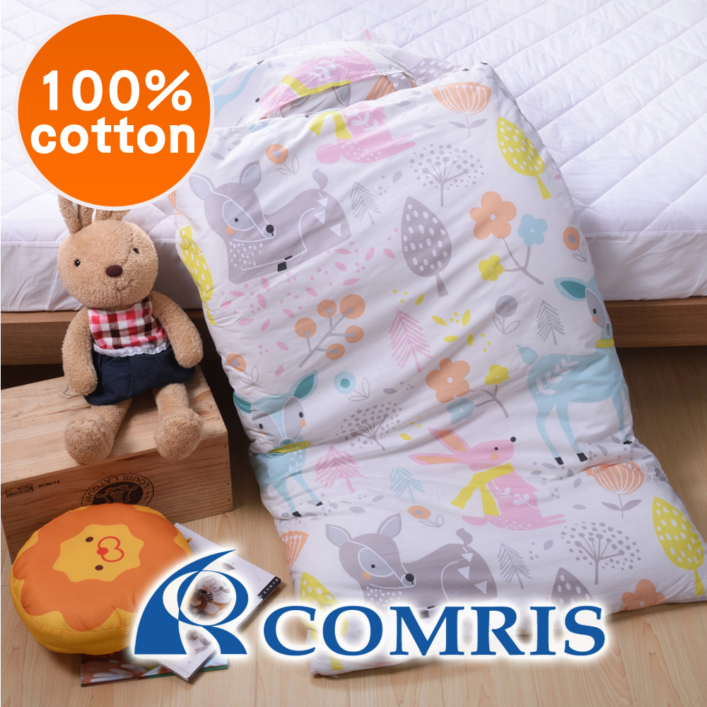 Wholesale Kids High Quality Two-Use Zipper Cartoon Cotton Sleeping Bag