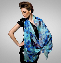 Custom fancy supplier of polyester satin scarves woman scarf