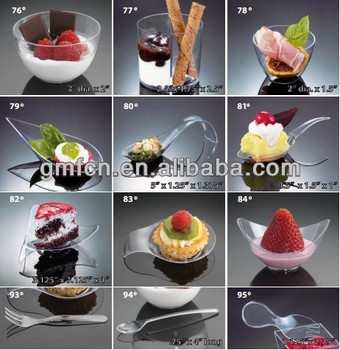 most populat in Middle East party Catering Wedding Mini icecream sauce pudding disposable plastic plates