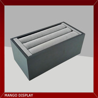 Grey lacquered leatherette jewelry box insert pad