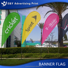 2016 Advertising Custom Polyester Flying Teardrop Flag Banner Printing