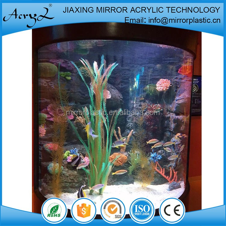 modern acrylic fish aquarium with LED light