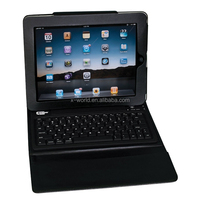 English layout synthetic leather case Leather keyboard case for ipad 2
