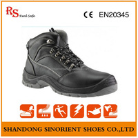 Genuine Leather Upper Material and Men Gender Stainless steel toe cap safety shoes Cheap black work boots Made in china SNF5210