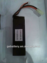 high rate 2S 7.4V2200mah 40C RC Quadcopter battery