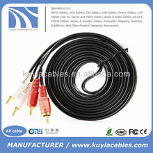 10FT 3m Dual 2 RCA to RCA Audio Video AV Cable FOR HDTV DVD Stereo Audio Cable