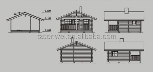 Bela De Madeira Dobrável Barato E Prático Pequeno Log Cabins-Casas   ~ Gazebo Importado Jardim