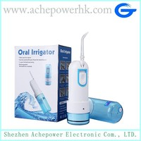 Portable oral irrigator, water flosser, dental water jet
