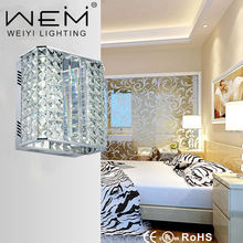 2017 Hot New Product Modern Crystal LED Wall Lamp 12W led wall reading lamp