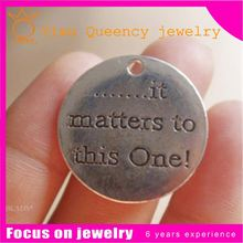 Personalized/custom engraved metal jewelry tags/charms/pendants wholesale