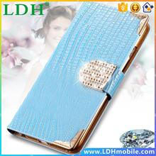 Lady Luxury Crystal Bling PU Leather Case For Apple iphone 6 Plus 5.5inch New Mobile Phone Bags Rhinestone Cover With Card Slot
