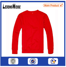 Factory Unisex autumn long Sleeve red cotton o neck t shirts