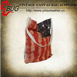 2013 latest canvas tote bag/fashion cute shopping bag handbag for girls with USA flag
