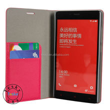 Luxury Travel Book Flip Leather Case Cover For XiaoMi RedMi HongMi Note ( Card Holder)