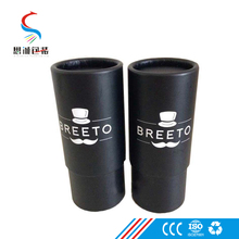 Cylinder cardboard packaging box black gift box paper tube box packaging