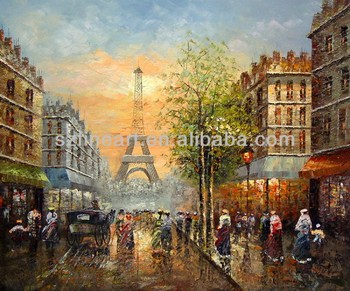 Paris Street Oil Paintings