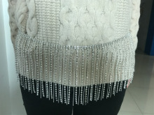 RHINESTONE BEADED stripper SKIRT