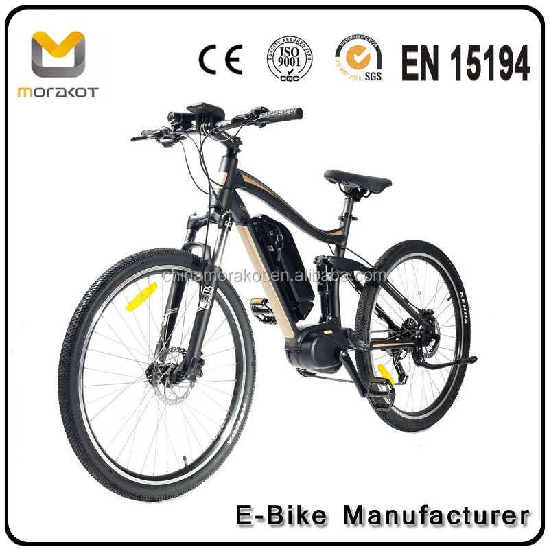 MSS9 CE Approved Tire Full Suspension 8fun 250W Mid Drive Electric Bike Electric Mountain Bike E Bicycle