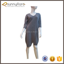 Fashion cashmere ladies winter long sweater dress