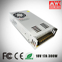 S-300-18 18V 17A led switching power supply 300W led driver manufactory