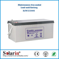 Selling well all over the world 12v agm solar battery 2000ah