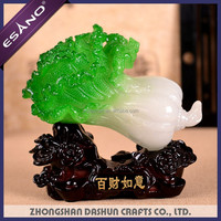 Chinese good luck feng shui Jade cabbage figurines statue gift craft