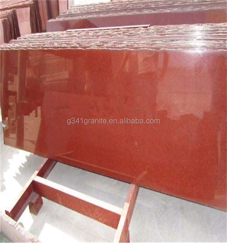 Import good quality cheap economic slab dyed red granite