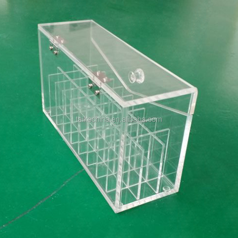 beauty large clear transparent plastic acrylic organizer boxes