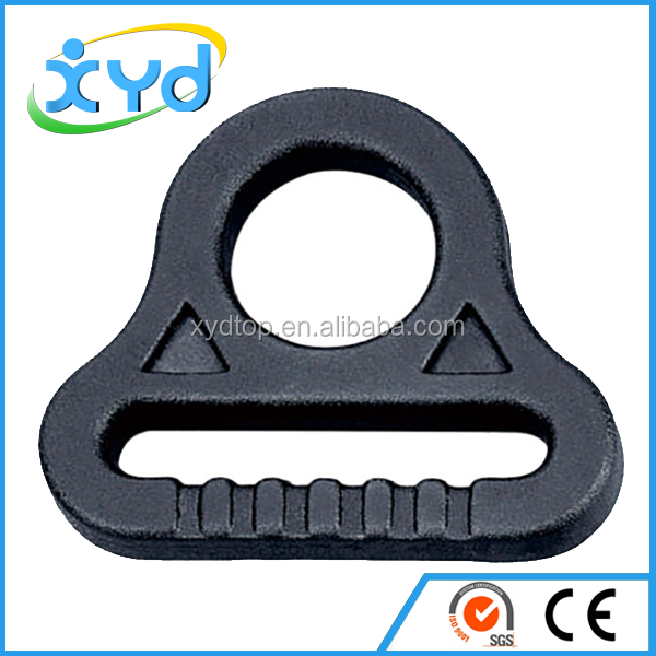 Plastic D ring buckle adjustable buckle for suitcase