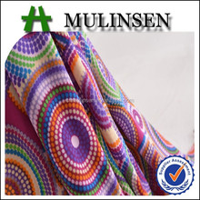 Mulinsen Textile single jersey knit 96/4 polyester spandex fabricindian fabric wholesale china supplier