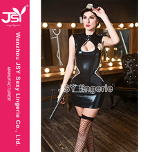 Simple Cosplay Costume Fashion Police Sex Dress