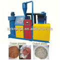 Scrap copper and plastic crusher and separator