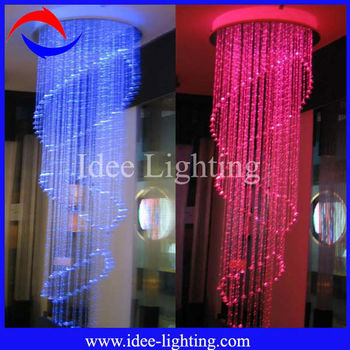 2013 new fiber optic modern ceiling crystal lamp